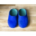 Kids slippers Felted wool slippers for children Blue and Green merino wool clogs